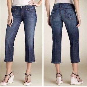 Citizens of Humanity Low Waist Cropped Jeans